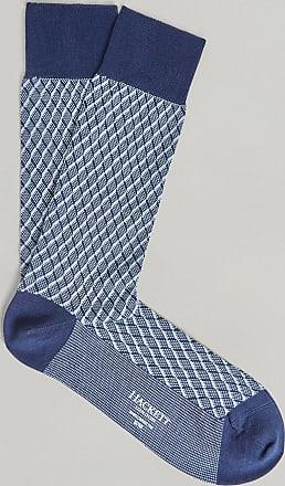 Hackett Geometric Diamond Cotton Socks | Small/Medium | Brown