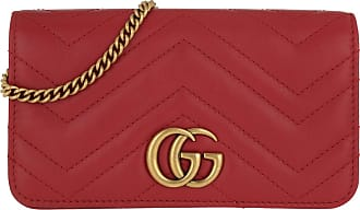 Gucci Cross Body Bags - GG Marmont Matelassé Super Mini Bag Leather Red - red - Cross Body Bags for ladies
