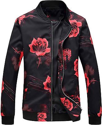 NPRADLA Mens Autumn Winter Solid Button Long Sleeve Jacket Fat Extra Size Plus Size Oversized Jacket Baseball Coat