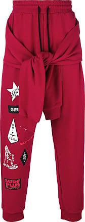 Ex Infinitas surf sticker print track pants - Vermelho