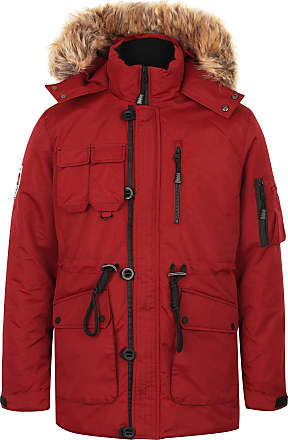 Tokyo Laundry Helga Hooded Parka Jacket in Cherry Red S