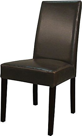 New Pacific Direct 198140B-01 Hartford Bonded Leather, Set of 2 Dining Chairs, Brown