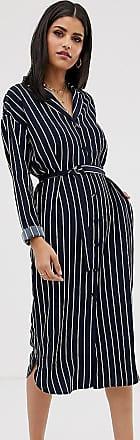 Y.A.S. Tall stripe shirt dress-Navy