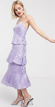 Whistles Luisa devore print dress-Purple