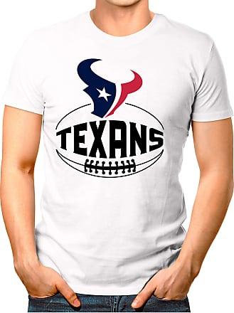 OM3 Houston-Ball - T-Shirt | Mens | American Football Shirt | XXL, White