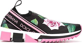 Dolce & Gabbana Tênis Sorrente com estampa tropical - Preto