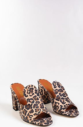 PARIS TEXAS Mules in Suede Stampa Animalier 9 cm taglia 36,5