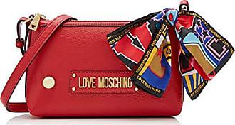 b595eb57e3 Love Moschino Grain PU, Sac à bandoulière Femme, Rouge (Rosso), 15x10x15