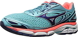 Mizuno Running Womens Wave Inspire 13 Shoes, Blue Radiance/Blueprint/Fiery Coral, 6 B US