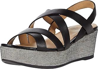 Naturalizer womens Unique Wedge Sandals Black Size: 6.5 Wide