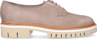 Santoni Flat Shoes calf-suede grey