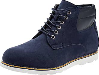 oodji Mens Faux Suede Shoes, Blue, 11 UK