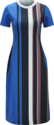 BOSS Short-sleeved dress in stretch jersey with printed stripes