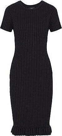 1ece24f6e91 Line Line Woman Judith Fluted Ribbed-knit Dress Black Size XS