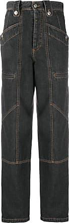 Isabel Marant Calça jeans reta Im Étoile - Cinza