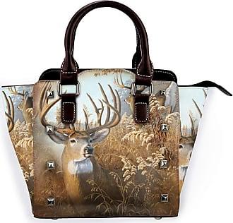 Browncin Rustic Deer Detachable Fashion Trend Ladies Handbag Shoulder Bag Messenger Bags
