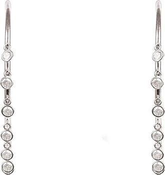 Latelita London Rhodium Plated Shimmer Hoop Earrings Large