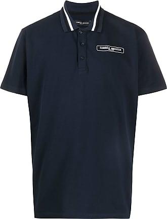 Frankie Morello Camisa polo com logo - Azul