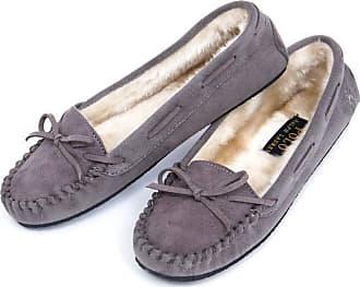 Ralph Lauren POLO RALPH LAUREN 5 Ladies Memory Foam Moccasins UK 2.5 Grey