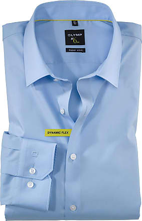Olymp Mens Classic Formal Shirt Blue light blue - Blue - 15.5