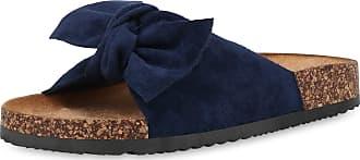 Scarpe Vita Women Sandals Mules Ribbons Cork Look 190573 Dark Blue UK 3.5 EU 36
