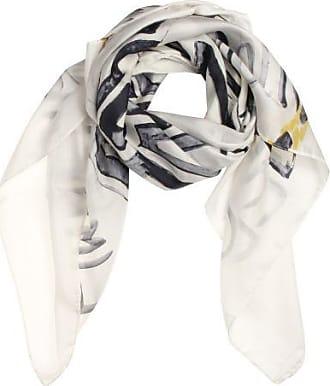P-Modekontor Dames Sjaals in Zijde (Wit)