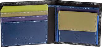 DuDu Portafoglio Piccolo Colorato da uomo in Pelle Nappa con Portamonete Porta carte e Banconote Woods