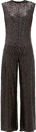 Norma Kamali Wide-leg Sequin Embellished Jumpsuit - Womens - Black