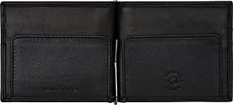 Nuvola Pelle Portafoglio Uomo in Pelle formato Verticale Sottile Porta Tessere Carte Documenti Banconote Zip Nero