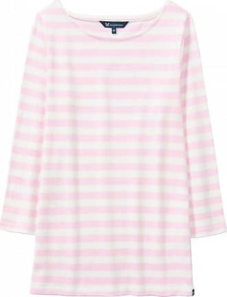 76457aafb335 Crew Clothing Womens Ultimate Breton Striped Tee - Pure Pink White - UK 12