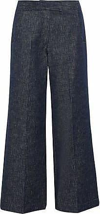 Derek Lam Derek Lam Woman High-rise Wide-leg Jeans Midnight Blue Size 42