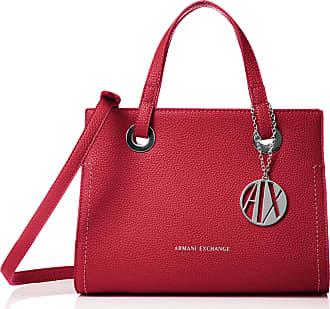 A X Armani Exchange Small Shopping Bag, Womens Tote, Red (Royal Red), 20x13x26 cm (B x H T)