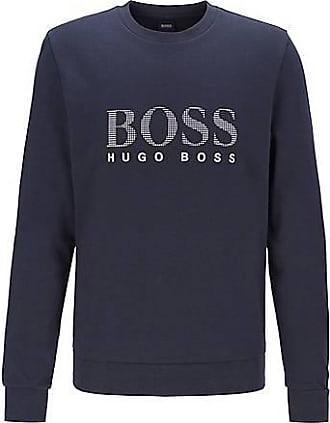 BOSS Loungewear-Sweatshirt aus Baumwoll-Mix mit Metallic-Logo