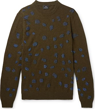 Paul Smith Embroidered Wool-blend Sweater - Green