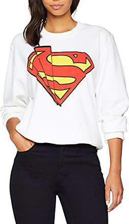 DC Comics DC Comic Official Superman Shatter Logo Womens Sweatshirt Felpa Donna