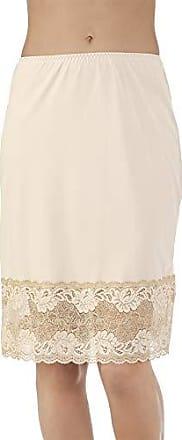 Vanity Fair Womens Plus Size Lace Half Slip 11741, Damask Neutral 22 inch, 2X-Large