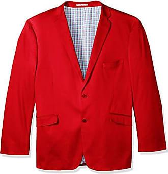 U.S.Polo Association Mens Big and Tall Stretch Cotton Sport Coat, red, 52 Regular