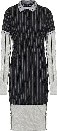 Y / Project Striped cotton and tulle midi dress