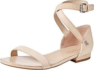8b973b911092 Ralph Lauren Lauren Ralph Lauren Womens Davison Flat Sandal Light Straw 7 B  US