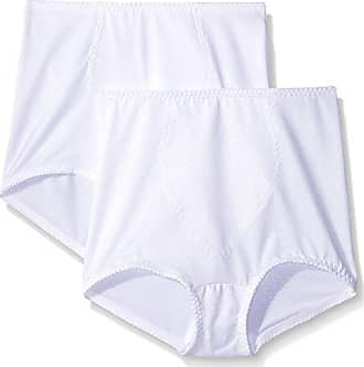 99c8d383b0c Hanes Shapewear Womens Light Control 2 Pack Tummy Control Brief,  White/White Deluster,