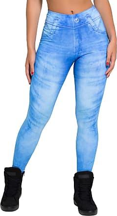 Kaisan Calça Kaisan Jeans Azul Sublimada