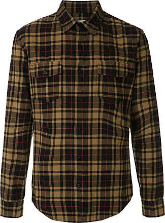 Osklen Camisa xadrez com botões - Preto