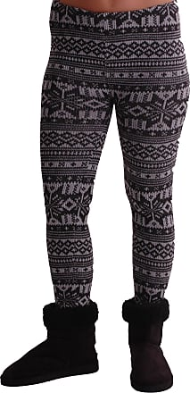 Eyecatch TM - Womens Nordic Style Cozy Warm Sweater Knit Leggings One Size Charcoal