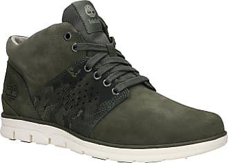 Timberland Bradstreet Half Cab Shoes dark green nubuck