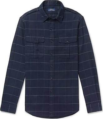 Polo Ralph Lauren Checked Brushed Cotton-flannel Overshirt - Blue