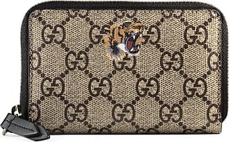 Gucci Kartenetui mit Reißverschluss aus GG Supreme mit Tigerprint
