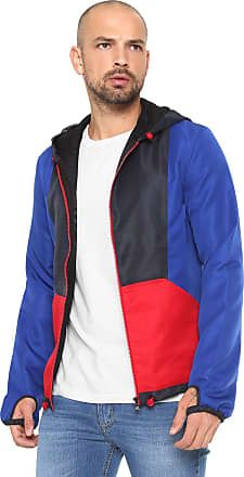 0fb44dd75ac47 Calvin Klein Jeans Jaqueta Calvin Klein Jeans Recortes Azul Vermelha
