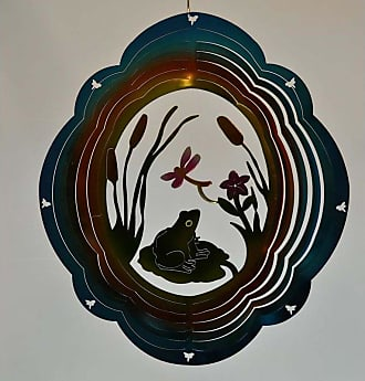 Great World Company 12 in. Frog Zephyr Spiral Wind Spinner - 83011