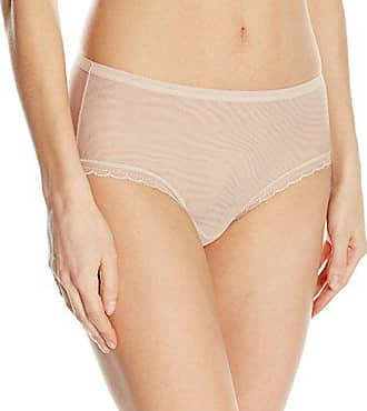 OnGossamer Womens Next to Nothing Mesh Medium-Rise Modern Brief Panty, Champagne