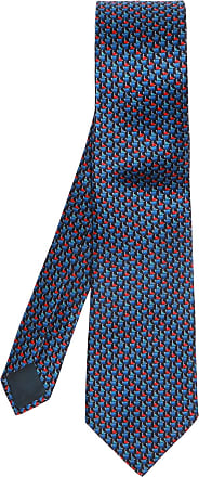 Lanvin Tie & Pocket Square Set Mens Navy Blue